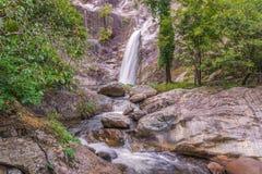 Waterfall in deep rain forest jungle. (Mae Re Wa Waterfalls Moko Stock Photography