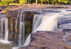 Waterfall in deep rain forest jungle. TadtonWaterfall Chaiyaphum Royalty Free Stock Photos