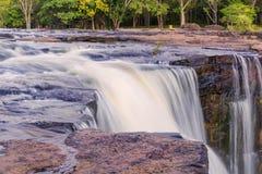 Waterfall in deep rain forest jungle. TadtonWaterfall Chaiyaphum Stock Image