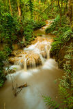 Waterfall in deep rain forest Stock Images