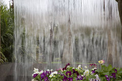 Waterfall design in Dallas Arboretum. TX USA Royalty Free Stock Photography