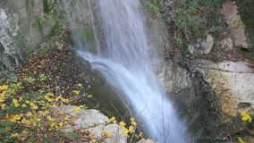 Waterfall detail stock video