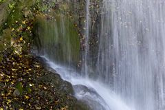 Waterfall detail. In gole caccaviola campania italy Royalty Free Stock Photos