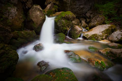 Waterfall detail in the mountains Stock Photography