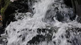 Waterfall detail slow motion stock video footage