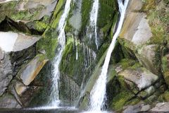 Waterfall details. A beautiful image from one corner of the world Stock Photography