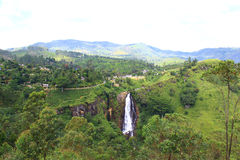 Waterfall Devon, Sri Lanka. Waterfall Devon district Nuwara Eliya, Sri Lanka royalty free stock photography