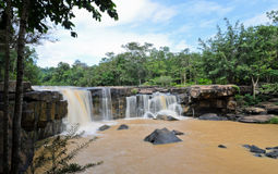 Waterfall in dipterocarp forest Royalty Free Stock Photo