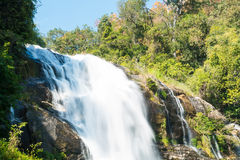 Waterfall at Doi Inthanon National Park of Thailand Stock Photography