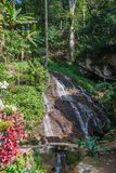 Waterfall in the Doi Pui Mong Hill Tribe Village, Chiang Mai, Northern Thailand stock photos
