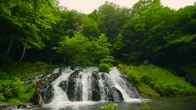 waterfall Dokuzak Strandja in Bulgaria stock video footage