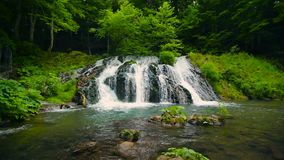 Waterfall Dokuzak Strandja in Bulgaria stock video