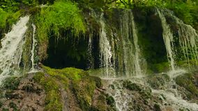 Waterfall Dokuzak Strandja in Bulgaria stock footage