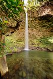 Waterfall in Dominica royalty free stock image