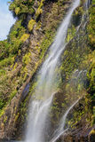 Waterfall at Doubtful Sound royalty free stock photos