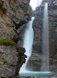 Waterfall Down Rock Cliffs Stock Photography