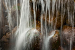 Waterfall. downflow of water on stones Stock Images