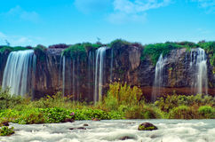 Waterfall. Dray Nur waterfall is a large and majestic in the province of Dak Lak, Vietnam Royalty Free Stock Photo