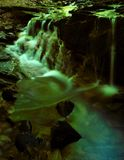 Waterfall dream. Surrealistic waterfall stock image