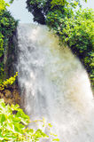 Waterfall. drop of water in the river from the ledge. Royalty Free Stock Photos