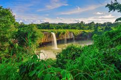Waterfall. Dry Nur, Daklak Province, Vietnam royalty free stock images