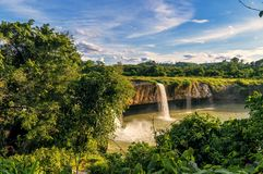 Waterfall Dry Nur waterfall Dry Nur, Vietnam royalty free stock photo