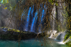 Waterfall Duden. Amazing waterfall Duden and green lake Royalty Free Stock Images