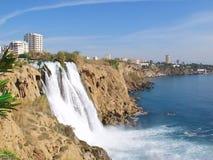 Waterfall Duden at Antalya.  Stock Images