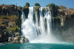 Waterfall Duden in Antalya. Stock Image