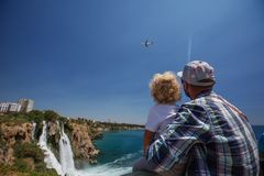 Waterfall Duden at Antalya, Turkey.  Royalty Free Stock Images