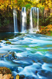 Waterfall Duden at Antalya Turkey. Nature travel background Royalty Free Stock Photo