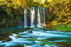 Waterfall Duden at Antalya Turkey royalty free stock photos