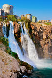 Waterfall Duden at Antalya, Turkey Royalty Free Stock Photography