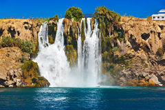 Waterfall Duden at Antalya Turkey Royalty Free Stock Photography