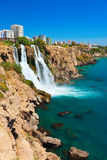 Waterfall Duden at Antalya, Turkey Royalty Free Stock Photo
