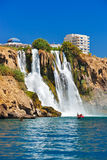 Waterfall Duden at Antalya Turkey Royalty Free Stock Photo