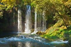 Waterfall Duden at Antalya Turkey Stock Images