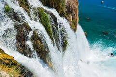 Waterfall Duden at Antalya, Turkey Stock Image