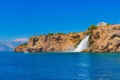 Waterfall Duden at Antalya Turkey Stock Image