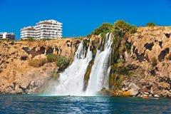 Waterfall Duden at Antalya Turkey Royalty Free Stock Photography