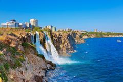 Waterfall Duden at Antalya, Turkey Royalty Free Stock Images