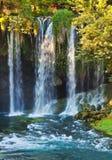 Waterfall Duden at Antalya Turkey. Nature travel background Stock Images