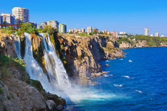 Waterfall Duden at Antalya, Turkey Royalty Free Stock Image