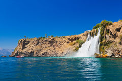 Waterfall Duden at Antalya Turkey Stock Images