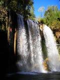 Waterfall Duden, Antalya. Waterfall Duden in Antalya, Turkey. Nature travel background Royalty Free Stock Photo