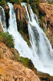 Waterfall Duden at Antalya, Turkey. Nature travel background Stock Photography