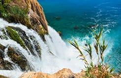 Waterfall Duden at Antalya, Turkey. Nature travel background Stock Image