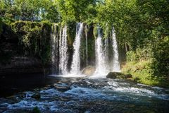 Waterfall Duden at Antalya Turkey.  Royalty Free Stock Images