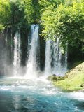 Waterfall duden in national park turkey. Large waterfall duden in national park turkey Stock Photos