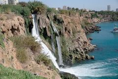 Waterfall Duden stock image